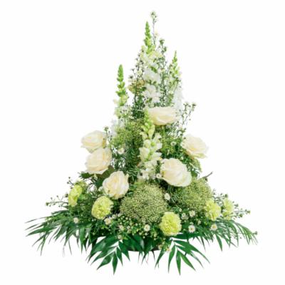 Coupe conique blanche et verte