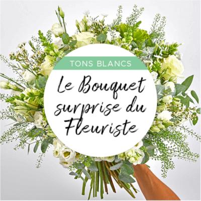 Bouquet du fleuriste blanc...